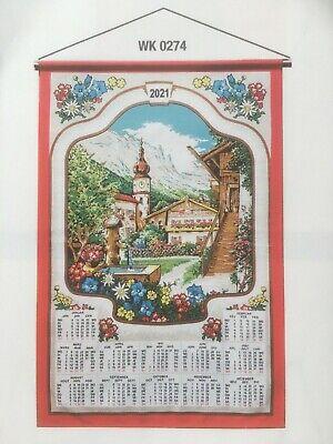 Stoffkalender 2021 mit  Stab und Kordel