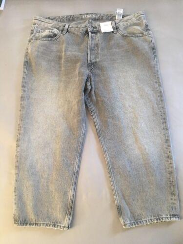 M/&S Taglia 8 Grigio Dritto alla caviglia randagi Jeans Denim Con Etichette Nuovo di Zecca