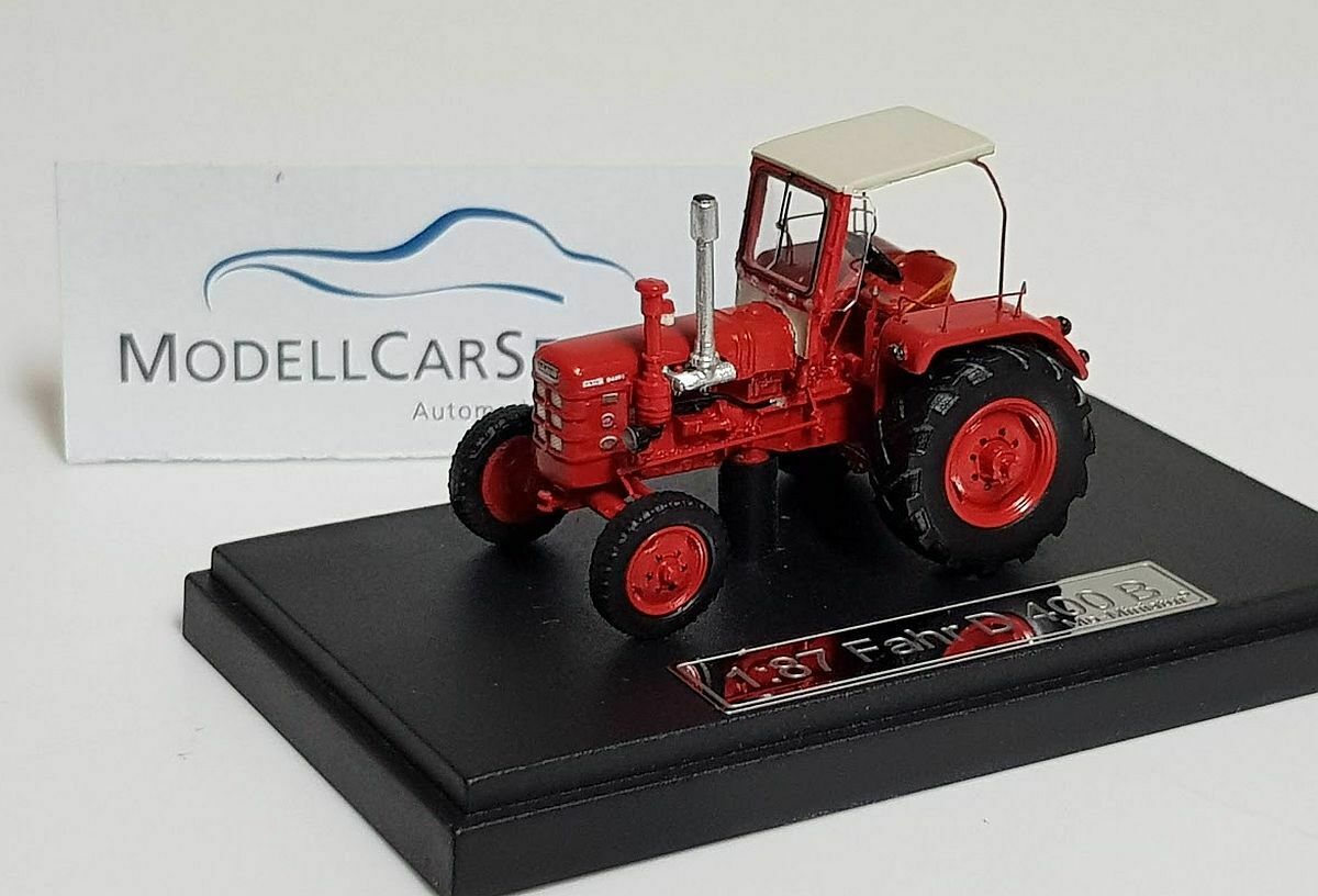 Mo-Miniatur 1 87  20064 Tractor Fahr D 400 B, with Roof