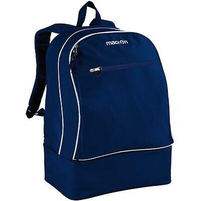 Zaino Zainetto Sport Scuola Calcio Con Scarpiera Macron Academy Backpack Blu