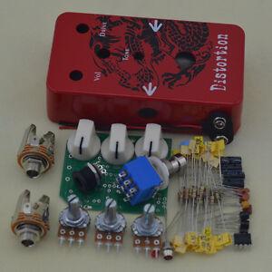 build your own diy distortion guitar effect pedal red 4033653051316 ebay. Black Bedroom Furniture Sets. Home Design Ideas