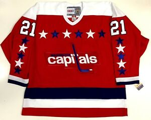 Image is loading DENNIS-MARUK-WASHINGTON-CAPITALS-CCM-VINTAGE-RED-JERSEY- 9e7a78064d4