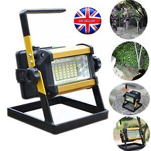 50-W-36-DEL-Rechargeable-Camping-Portable-Exterieur-Flood-Light-Spot-Lampe-de-Travail-Chaud