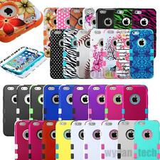 For iPhone 6S PLUS 4.7 5.5 5S 5C 4S Hybrid Armor Hard Rubber High Impact Case