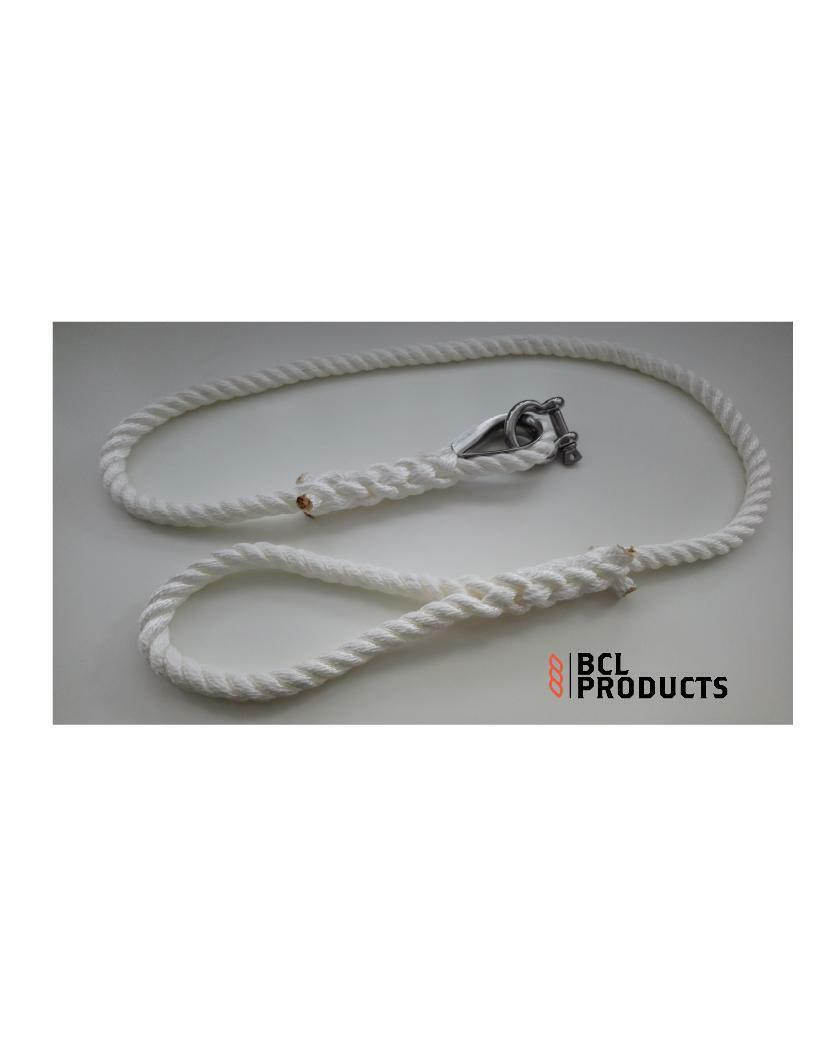 Nylon Rope Mooring Strop - 3 Strand Nylon - Choose Diameter And Length