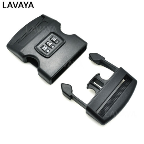 """2/"""" Webbing Password Safety Detach Buckle Plastic for Travel Luggage Backpack"""