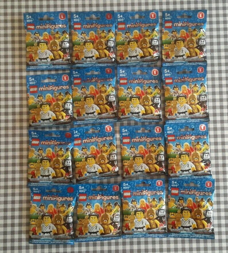 Lego minifigures series 2 (8684) complete unopened set of 16 new factory sealed