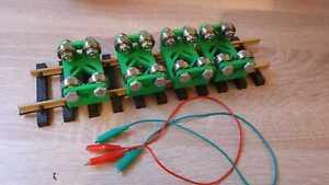 piste 1 Piste G 4 pièces PIKO LGB U Acier Vis 12012 banc dynamométrique à rouleaux