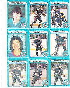 Lot-of-39-Winnipeg-Jets-1980-039-s-O-Pee-Chee-Hockey-Cards