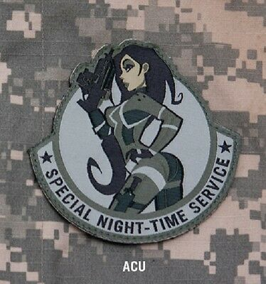 SPECIAL NIGHT-TIME SERVICE ACU TACTICAL COMBAT HOOK BADGE MORALE MILITARY PATCH