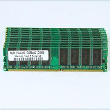 New Lot of 10pcs X 1GB PC3200 400MHz low-Denstiy DDR400 MEMORY Non-ECC SDRAM
