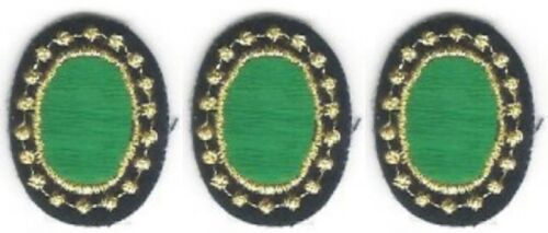 Lot 3 Green Emerald Oval Embroidery Patch