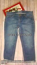 New York & Company Women's 14 Stretch Cuffed Jeans Bermuda shorts Capri Low Rise
