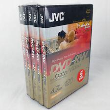 JVC DVD-RW 4.7GB 120MIN re-Grabable DVD 5 paquete de vídeo de datos de VD-W47DE5V 1-2X x5
