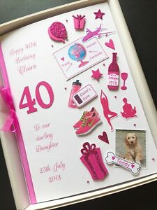 Image Is Loading 40th BIRTHDAY CARD Personalised FOR WOMEN Mum Daughter