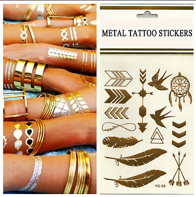 Fab Jewelry Inspired Metallic Temporary Tattoo Flash Sticker Party Pub PART 2