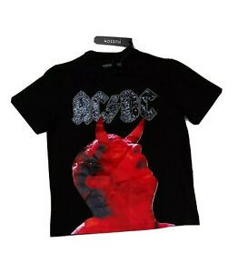Men-Hudson-100-authentic-short-sleeve-t-shirt-size-large-black-ACDC