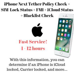 Details about Next Theter Policy iPhone IMEI Check SIM Lock Status (From  Apple GSX Report)