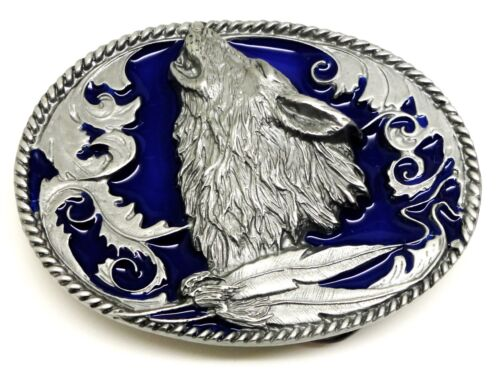 3 Colours American Western Themed Authentic Siskiyou Howling Wolf Belt Buckle
