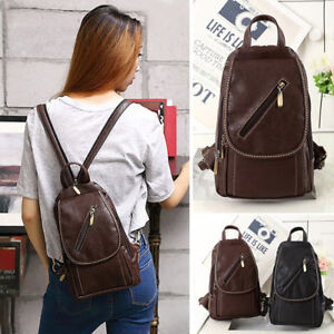 Image is loading Convertible-Faux-Leather-Small-Mini-Backpack-Rucksack -Sling- 272e4f6181