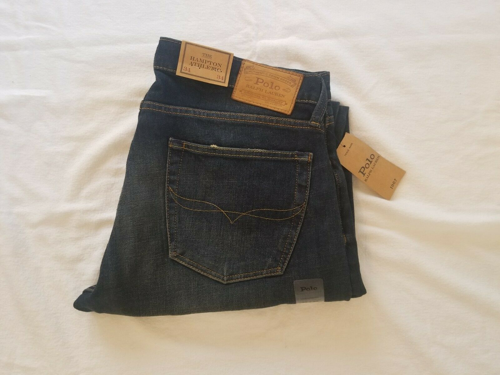 Polo Ralph Lauren Genuine Hampton Athletic Jeans  Brand New  Very Good Quality