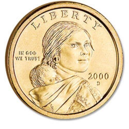 2000-D   Sacagawea Native American Dollar  BRILLIANT UNCIRCULATED