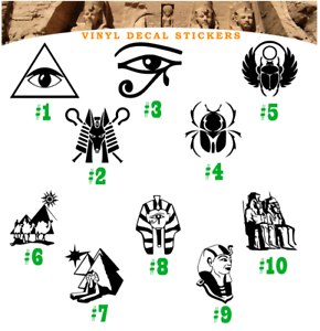 Egypt Sphinx Pyramid Vinyl Decal Sticker  Car Wall Window Laptop  Eye of Horus