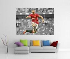 ZLATAN IBRAHIMOVIC Manchester United Man Utd Gigantesco Muro ARTE foto STAMPA POSTER