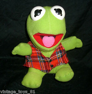 VINTAGE-BABY-KERMIT-FROG-1987-JIM-HENSON-MCDONALDS-STUFFED-ANIMAL-PLUSH-MUPPETS