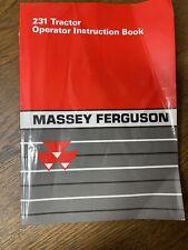 Massey Ferguson 231 Tractor Operator Instruction Book Manual