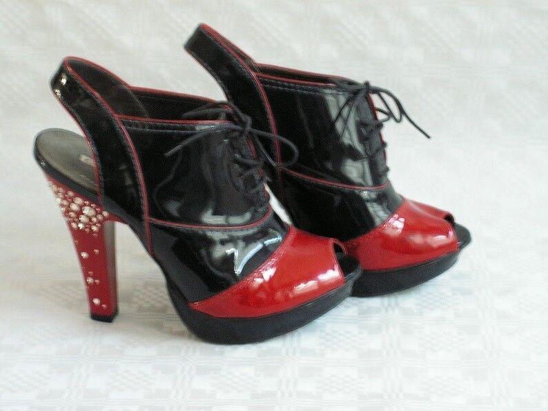 Bufflao Sandaletten Pumps Lackleder Schuhe Gr. DE 39 Sandaletten High-Heel