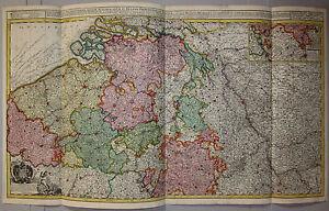 Osterreichische-Niederlande-Belgien-Seltene-grosse-Karte-von-J-Ottens-1720