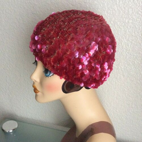 Beret Pink Sequins one size