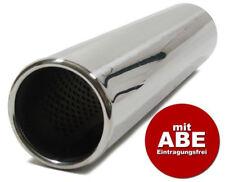 Edelstahl Endrohr rund 76mm + Absorber mit ABE