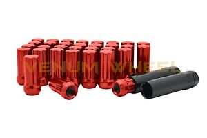 20 Pc Short Spike Lug Nuts 12x1.5 Red