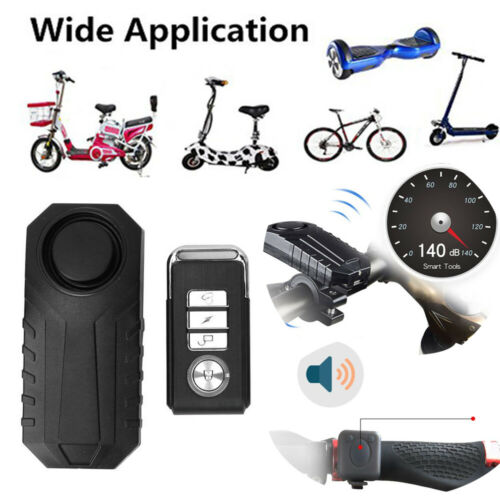 Sans fil Motion Detect alarme anti-vol Alarme Antivol pour vélo moto voiture