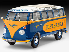 Revell - VW T1 SAMBA BUS LUFTHANSA, Plastik-Bausatz, 07436