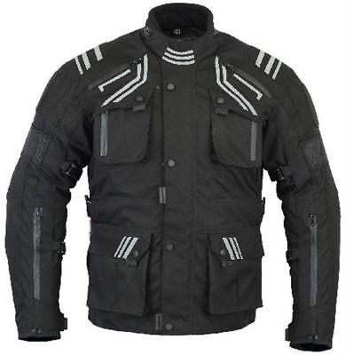 CE Armour Motorcycle Jacket Infinity WATERPROOF Zip Vented,Thermal /& Breathable