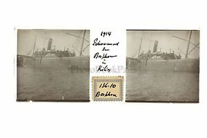 Bateau-Bosporos-Turchia-Francia-Placca-Stereo-Positive-Vintage-Guerre-1914