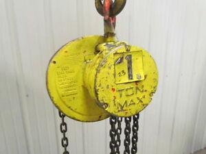 CM-Columbus-Mckinnon-1-Ton-Manual-Chain-Fall-Hoist-8-039-6-034-Lift-2000lb-Capacity