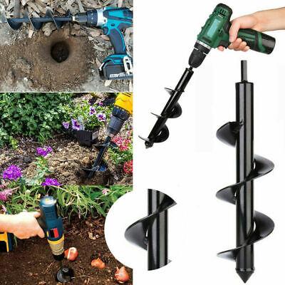 2Size Earth Auger Drill Bit Garden Planting Planter Spiral Hole Digger Drill Bit