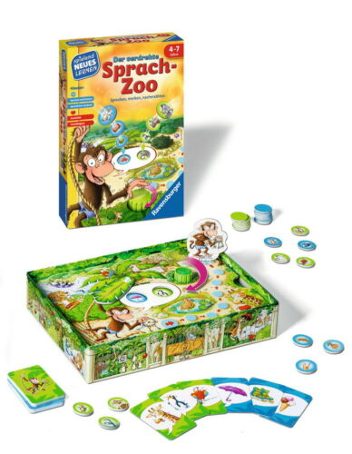 Ravensburger Spielend Neues Lernen Sprach-Lernspiel verdrehte Sprach-Zoo 24945 Spiele
