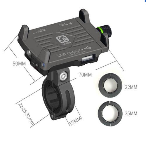 Aluminum Alloy Phone Holder USB Charger For Suzuki Vstrom 650 1000 DL650 DL1000