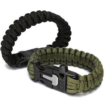 Paracord Outdoors Survival Rope Escape Emergency Wristband Bracelet Rope