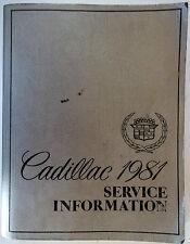 1981 Cadillac Service Information Manual O.E.M. Body Frame Wiring Diagrams More