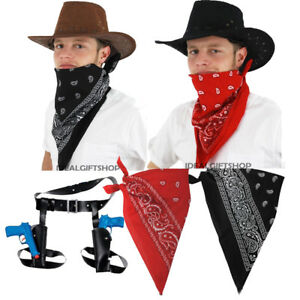 Image Is Loading COWBOY FANCY DRESS SET HAT BANDANA NECK SCARF