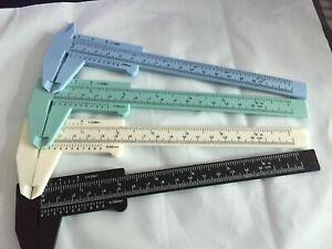 150mm Mini Plastic Sliding Vernier Caliper Gauge Measure Tool Ruler