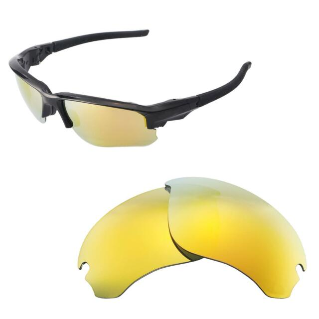 cf9cbef4e5f2d Walleva 24K Gold Polarized Replacement Lenses For Oakley Flak Draft  Sunglasses