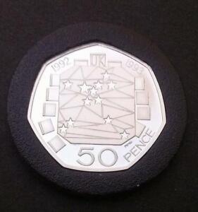 1992-EU-Presidency-50p-Coin-Scarce-Silver-Proof-in-Capsule