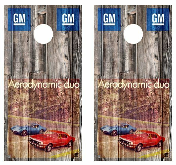 1968 Corvette - Camaro Ad Cornhole Board Decal Wraps w  FREE APP SQUEEGEE  with 100% quality and %100 service